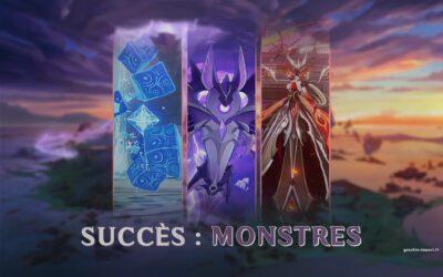 Les succès de la 2.1 liés aux monstres !